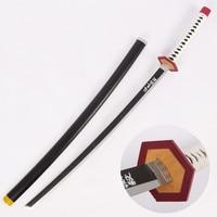 Tomioka Giyuu Cosplay Sword Demon Slayer Kimetsu No Yaiba Cosplay Prop Weapons Wooden Sword Katana for Halloween Christmas Event