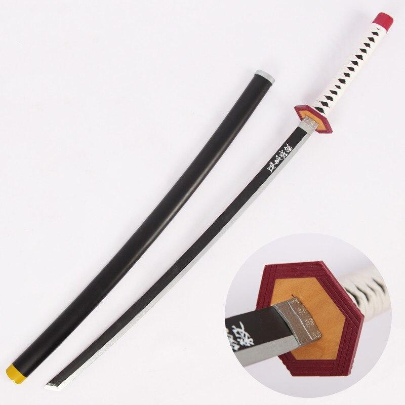 Armas de Madeira Katana para o Dia das Bruxas Tomioka Giyuu Cosplay Espada Demon Slayer Kimetsu Não Yaiba Prop Natal Evento