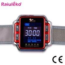 Лазерная физиотерапия наручные часы диабет/синусит наручные часы диод 650 нм для диабета гипертония тромбоза холестерина