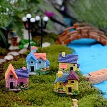 Mini Castle Small House Fairy Garden Miniatures Terrarium Figurines DIY Crafts Figure Moss Ornament Micro Landscape Decor
