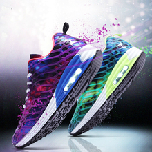 2019 Web Celebrity Net Breathable Air Cushion Camouflage Mesh Men Running Shoes Unisex Sneakers Casual Low Cheap Womens