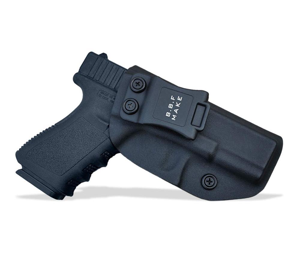 B.B.F Make la pistolera táctica KYDEX de la caja de la pistola de la Glock 19 19X23 32 CZ P10 dentro de la bolsa de accesorios de la caja de la pistola de la cintura oculta