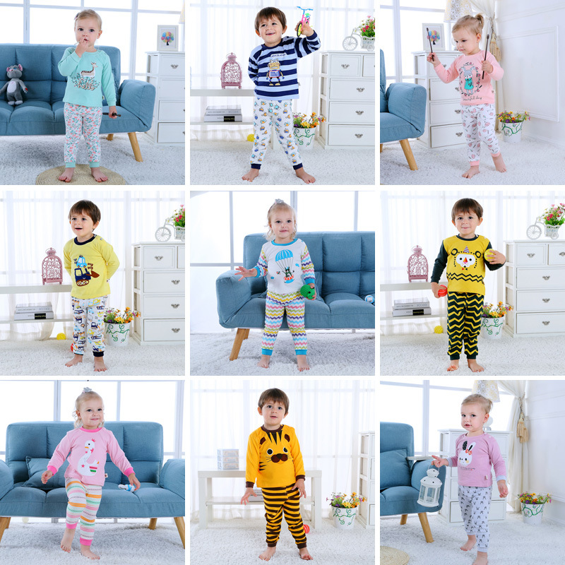 CHILDREN'S Underwear Suit Pure Cotton Autumn Clothing <font><b>0</b></font>-<font><b>1</b></font>-2-3-<font><b>4</b></font>-Year-Old Infant Baby Long Sleeve Clothes Girls Thermal Underwear image