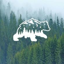 Модные наклейки с изображением горного медведя для автомобилей