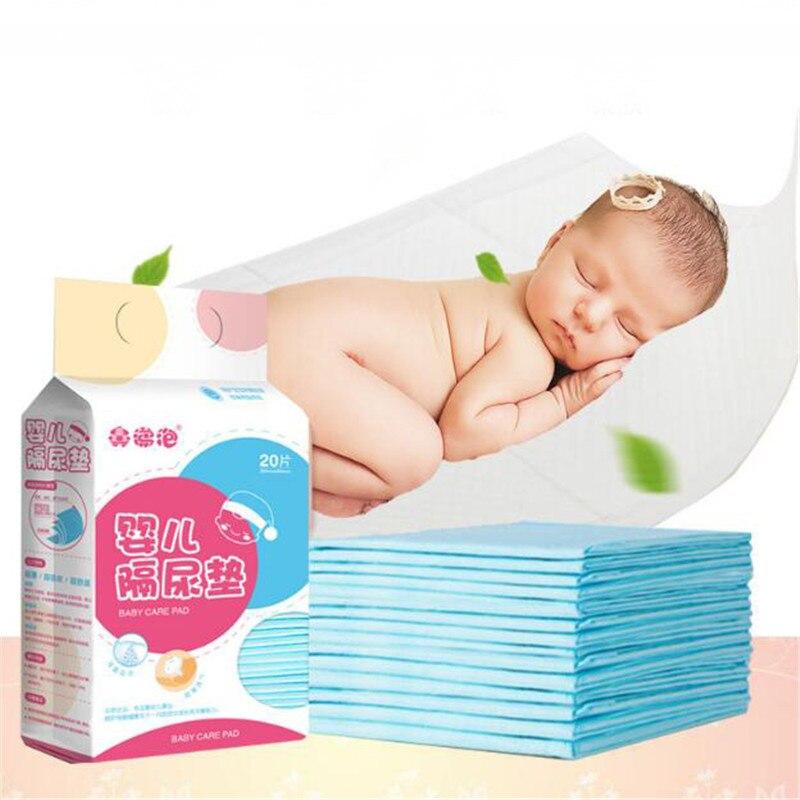20 шт цветные пеленки для младенцев, водонепроницаемые дышащие одноразовые пеленки для новорожденных детей, товары для ухода за детьми