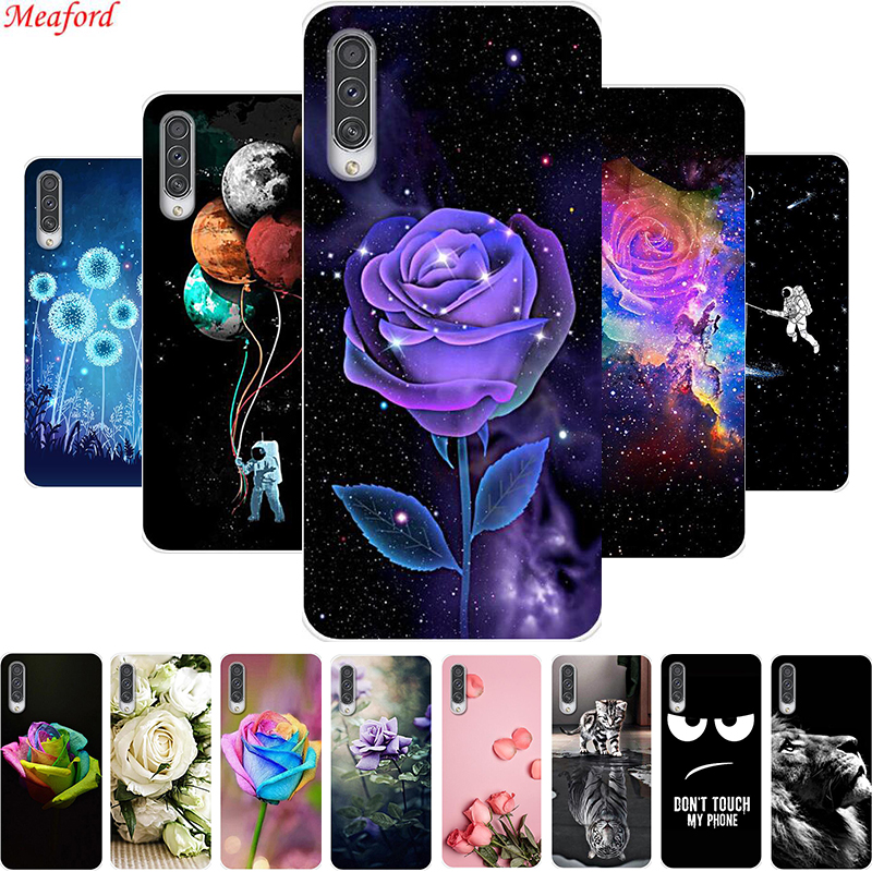 6.4 Funda For Samsung A30s 2019 Case A50s A50 Soft TPU Back Cover Case For Samsung Galaxy A30s Case A 30 s Cover Floral Coque image