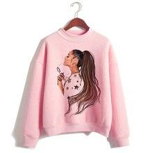 Ariana Grande women hoodies kpop clothes fashion 90s Casual