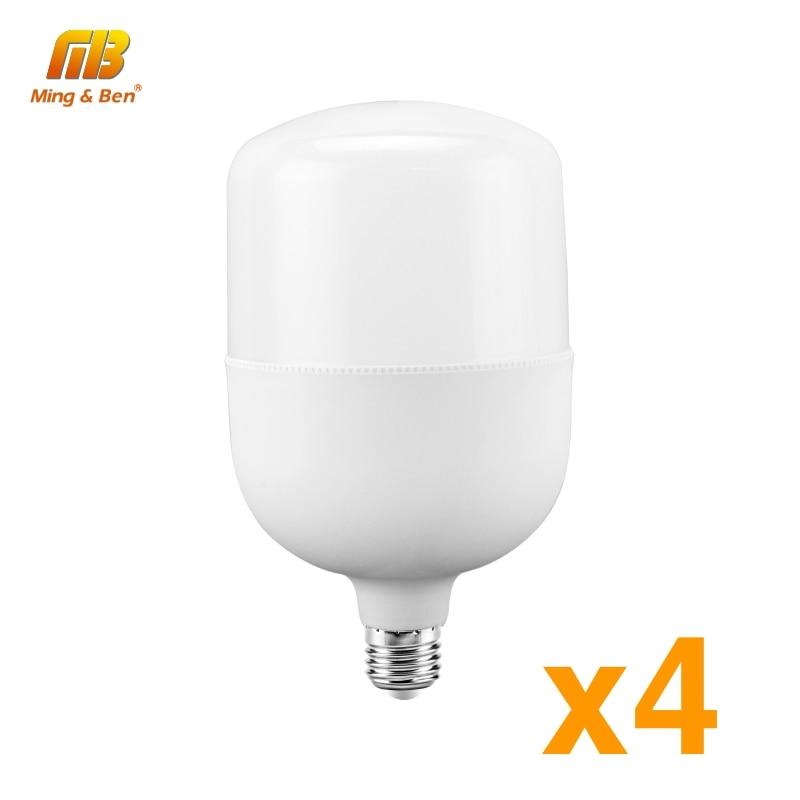 4pcs LED Lamp Light Bulb No Flicker 5W 10W 15W 20W 30W 40W 50W E27 220V Lampada LED Lights For Living Room Corridor Home Lamp