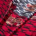 140cm clássico carruagem impresso tecido de seda material 19 momme vestido macio camisa de seda crepe cetim tecido por atacado pano de seda