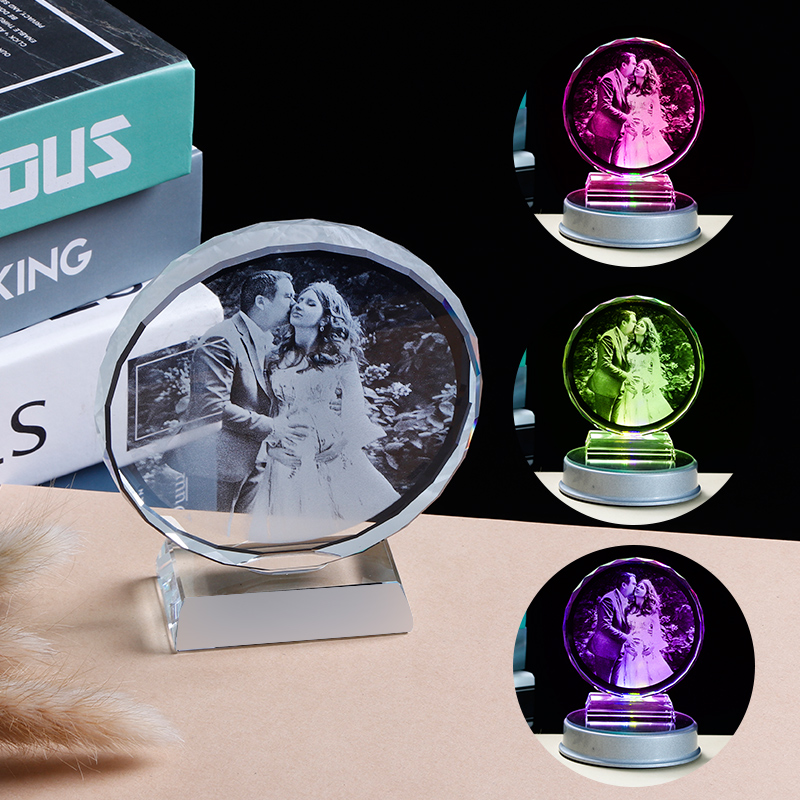 Customized Souvenir Gift Laser Engraved Crystal Engagement Present Creative Personalized Wedding Anniversary Gifts