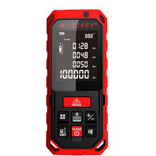 купить 10.2~100mm Laser Rangefinder Digital Distance Meter Rechargeable Battery Laser Range Finder Area Volume Angle Measurer Tester по цене 2680.8 рублей