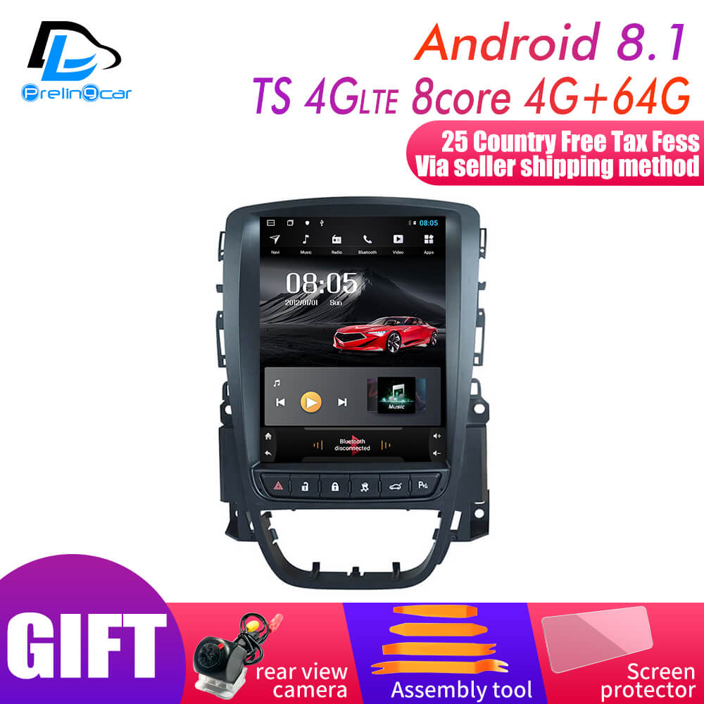 4G <font><b>RAM</b></font> Vertical screen <font><b>android</b></font> 9.0 system <font><b>car</b></font> gps multimedia video radio player in dash for opel ASTRA J <font><b>car</b></font> navigaton stereo image