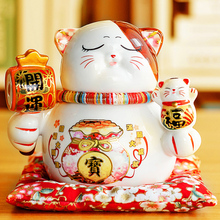 Coin-Box Savings Piggy-Bank Money Cat-Decoration Gift Ceramic Lucky Small Creative Home