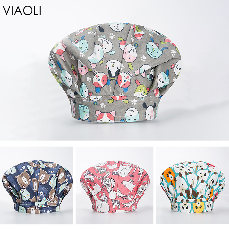 Eye Hospital Print Surgical Cap Nurse Hat Cleaning Cap Cotton Medical Use Doctor Laboratory Aviation Navy Veterinary Wholesale