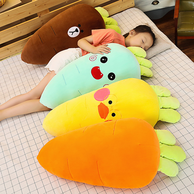 35cm-90cm Cretive Simulation Plant Carrot Plush Toy Carrot Stuffed With Down Cotton Super Soft Pillow Lovely Gift For Girl Kids