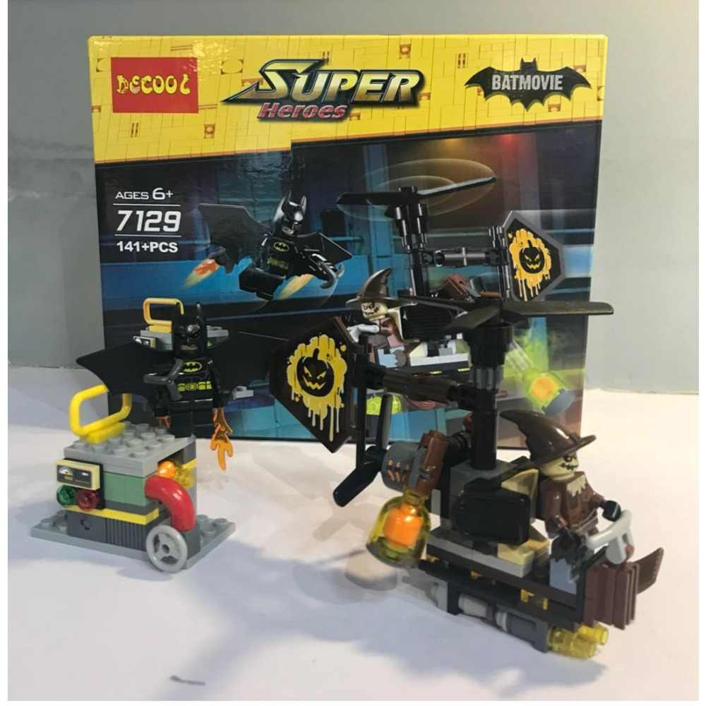 Supereroi 7129 141Pcs Batman vs Spaventapasseri della ragazza del Ragazzo amici Building Block Mattoni regali Giocattoli FIT per il film per minifigure