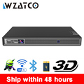 WZATCO T5 HD 4K настоящий 3D DLP проектор батарея с зумом  авто Keystone  Android 6 0 WiFi LED Smart Proyector Bluetooth Airplay
