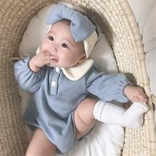 Knitting Baby Newborn Romper With Headband Baby