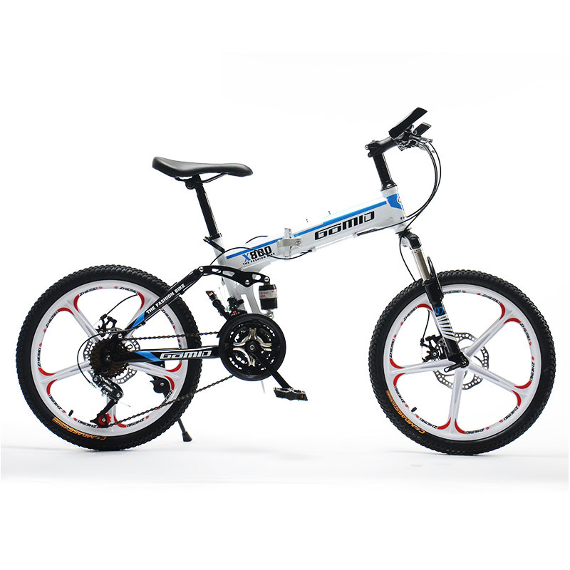 Mountain Bike Bicycle Student Children 20 Inch 21 Speed Folding Double Shock Off Road Men And Women Bicycle