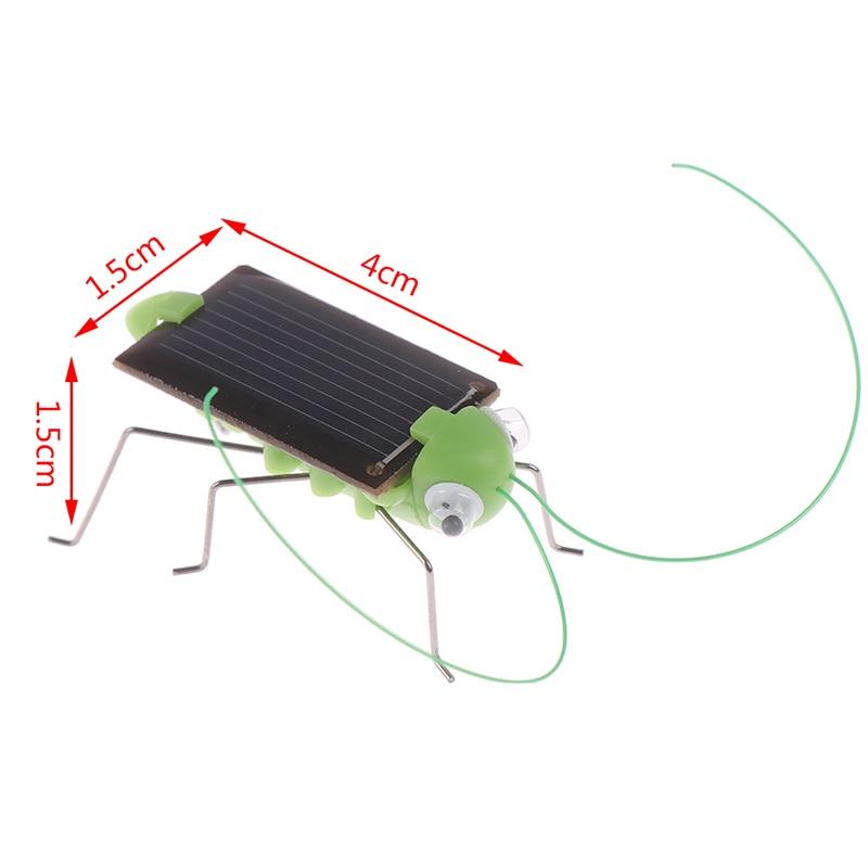 1PCS Educational Solar Powered Grasshopper Robot Toy Solar grasshopper No batteries Solar Toys Gadget Gift For Kids