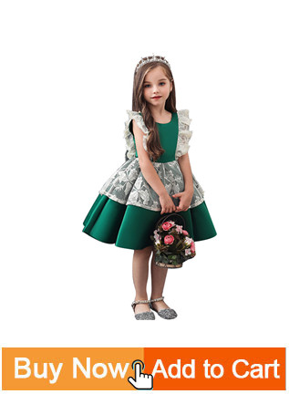Ha892eaece72a4945996a0e4847ad1e45u Princess Flower Girl Dress Summer Tutu Wedding Birthday Party Dresses For Girls Children's Costume New Year kids clothes