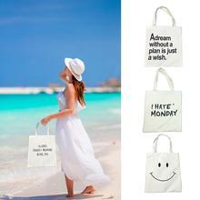 Fashion Women Single Canvas Shoulder Bag Handbags Shopping Grocery Tote Female Shopper Hand Bags For Ladies Causal Beach Handbag недорго, оригинальная цена