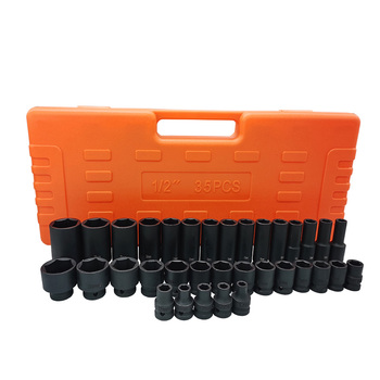 Julaihandsome Air Impact Sockets Set 1/2 Drive 6 Point Deep/Short Sockets Tool Sets set of sockets matrix 13557