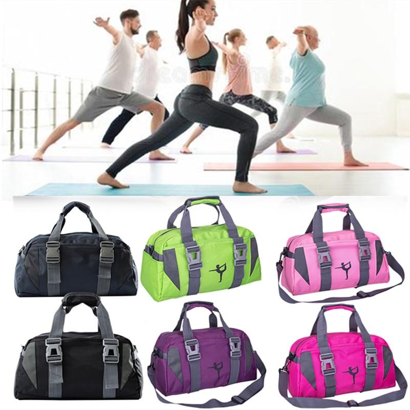 Men Women Water-resistant Yoga Fitness Travel Bag Sports Slung Shoulder Portable Duffel Bags
