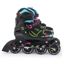 Quality adult and children's roller shoes Black sneakers Aluminum alloy inline wheel DHL Express Delivery