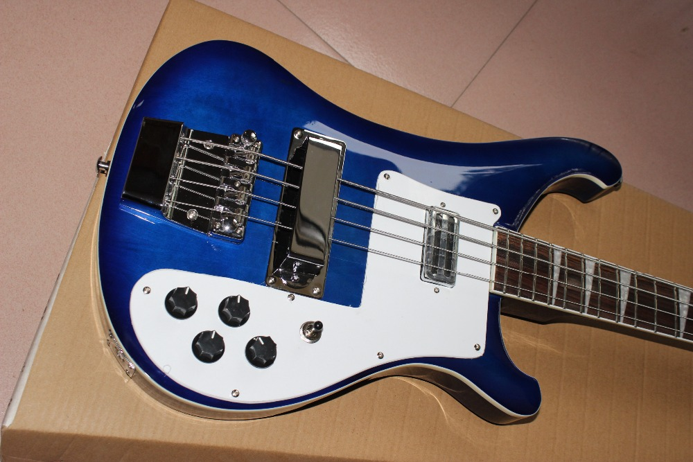 New Arrival 4 String Electric Bass Guitar in blue color with high quality.Rosewood fingerboard guitarra