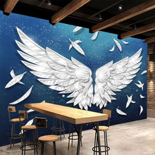 Modern Simple Wings Feather Mural Wallpaper 3D Living Room TV Sofa Bedroom Background Wall Decor Papel De Parede 3D Sala Fresco custom mural wallpaper 3d abstract feather art fresco living room bedroom wall papers home decor wall painting papel de parede