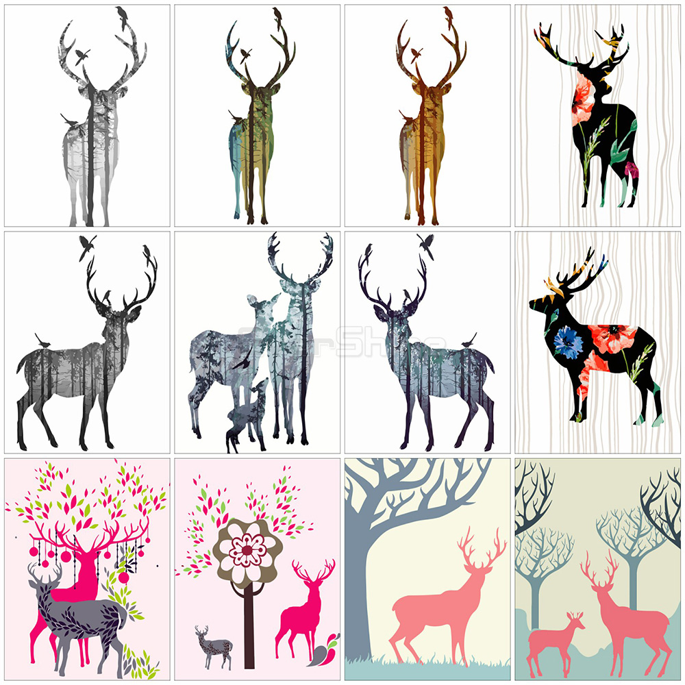 EverShine Painting By Numbers Deer For Adults Hand Painted Paint Of Numbers Animals Hobby Art Home Decoration