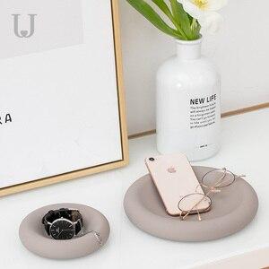 Image 3 - Youpin JordanJudy fashion Creative Silicone tray Mobile watch ring jewelry placement dedicated Storage Box