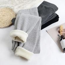 Плотные бархатные теплые леггинсы для женщин осень зима в рубчик