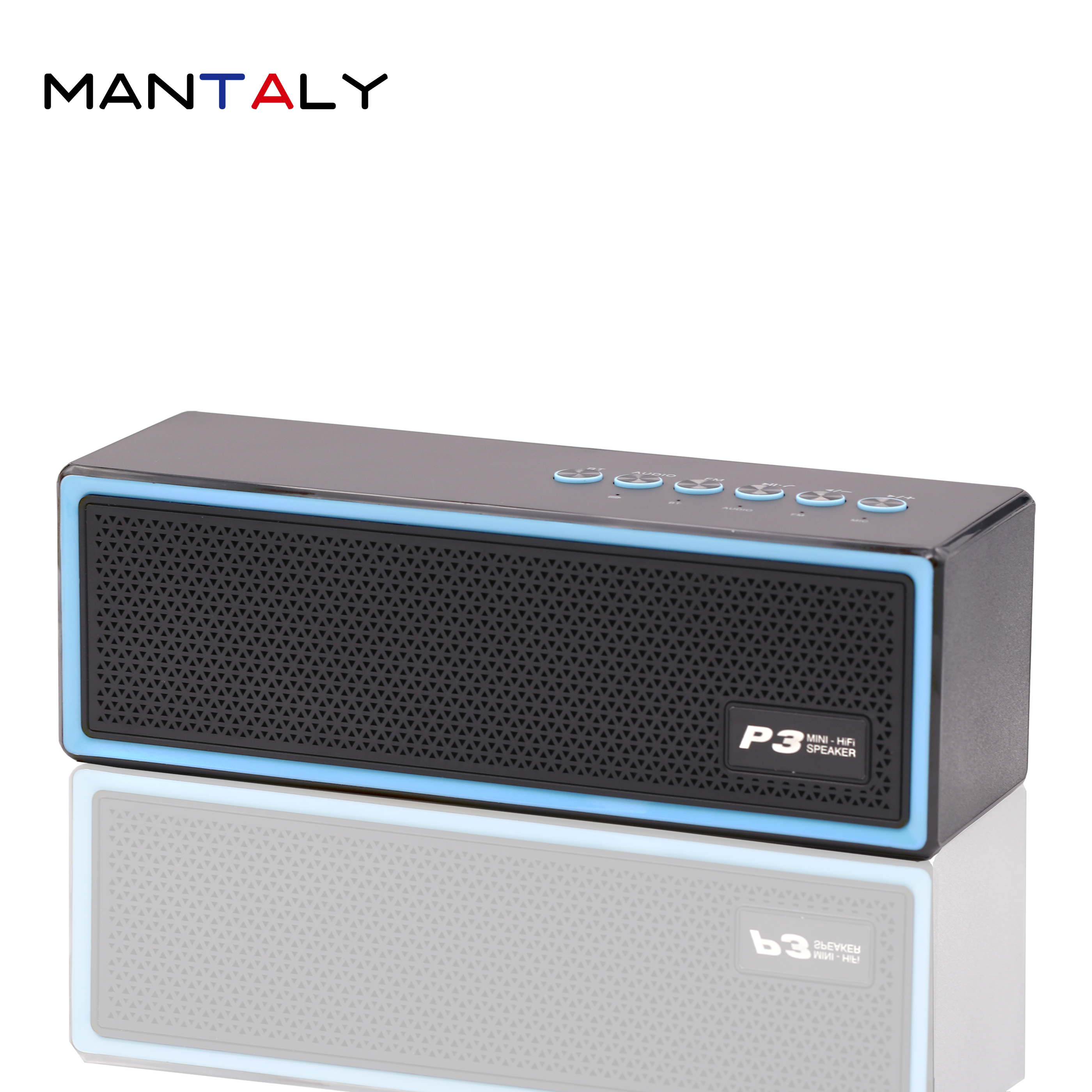 P3 mini wireless bluetooth speaker enceinte portable parlante soundbar spotify premium retro computer pc boombox blue tooth usb