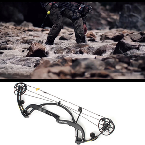 Image 2 - Linkboy Archery Pure Carbon Fiber Compound Bow Predator 2 Generation 50 65lbs for Hunting Shooting