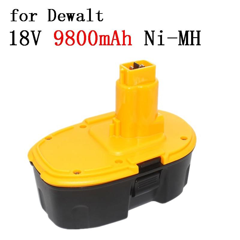 18V 9800mAh Ni-MH Power Tool Battery Charger for Dewalt DC9096 DE9039 DE9095 DW9098 DE9503 DW9096 Replacement Battery L30