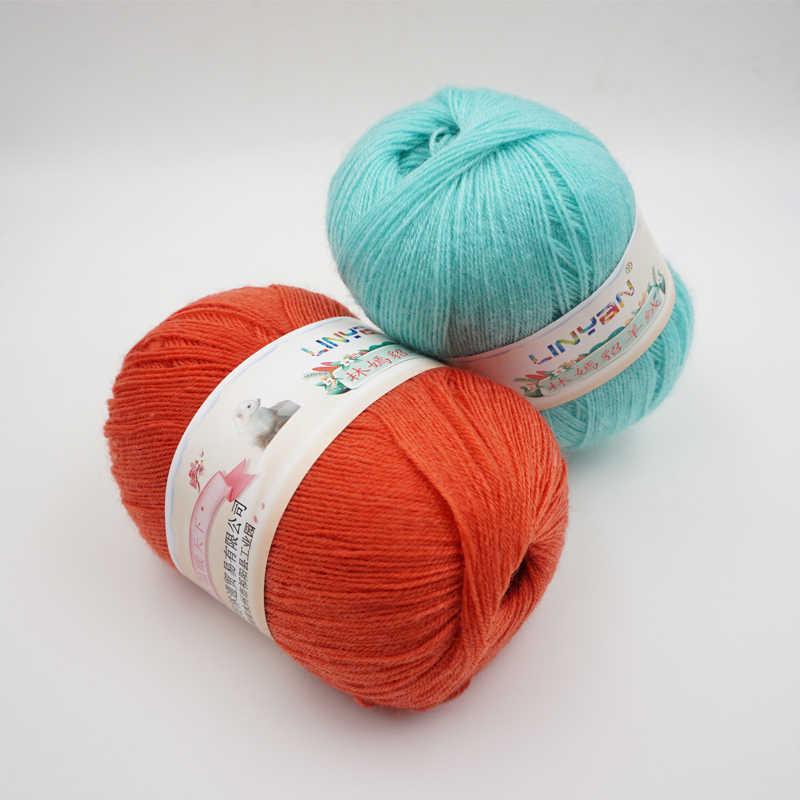 6 조각 * 50g 원사 편직 양모 원사 뜨개질을위한 밍크 양모 원사 Hermelin flocking Hand woven thread t74