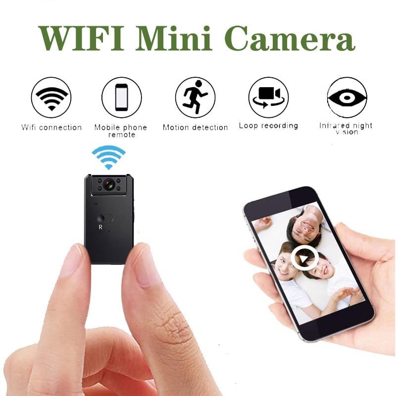 Jozuze mini câmera wi fi inteligente sem fio filmadora ip hotspot hd visão noturna de vídeo micro pequeno cam detecção movimento segurança em casa