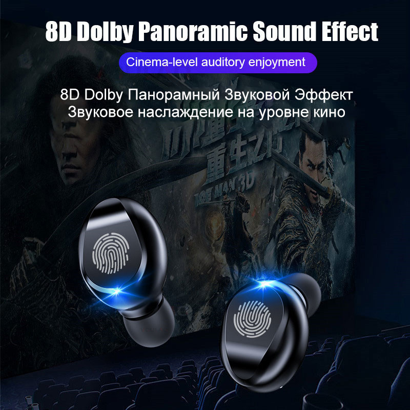 cheapest TWS V5 0 Bluetooth Earphone 8D Stereo Wireless Headphones Sport Wireless Earphones with LED 2000 mAh Charging Bin Phone Holder