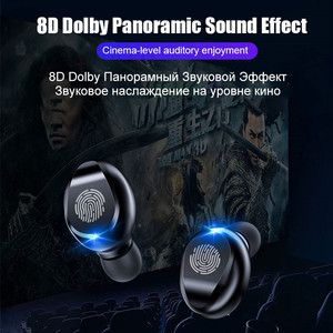 Image 3 - TWS V5.0 Bluetooth kulaklık 8D Stereo kablosuz kulaklıklar spor kablosuz kulaklık ile LED 2000 mAh şarj kutusu telefon tutucu