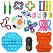 22 /23/pacote brinquedo sensorial fidget conjunto brinquedos de alívio do estresse autismo adhd ansiedade alívio estresse pop bolha brinquedos fidget para crianças adultos