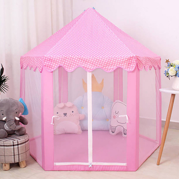 Baby toy Tent Portable Folding Prince Princess Tent Children Castle Play House Kid Gift Outdoor Beach Zipper tent Girls gifts baby indoor playhouse baby folding portable beach castle tent toy house for baby gifts
