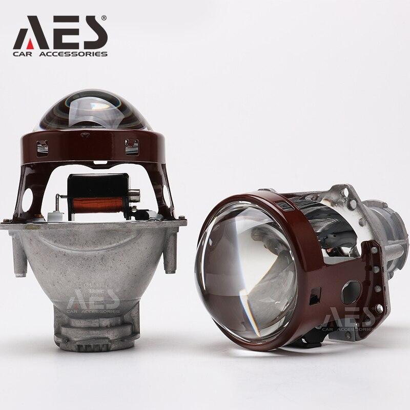 AES 3 Inch M6 Bi Xenon HID Projector Lens High Low Beam 6000k D1S D2S D3S D4S Universal Car Parts Headlight Retrofit Lamp