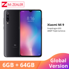 Global Versie Xiao mi mi 9 mi 9 smartphone 6.39 inch 6 gb ram 64GB ROM snapdragon 855 OCTA core 48MP + 16MP + 12MP Triple Camera S