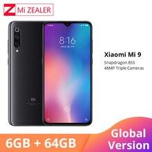 グローバルバージョンシャオ mi mi 9 mi 9 スマートフォン 6.39 インチ 6 ギガバイトの RAM 64 ギガバイト ROM キンギョソウ 855 オクタコア 48MP + 16MP + 12MP トリプルカメラ