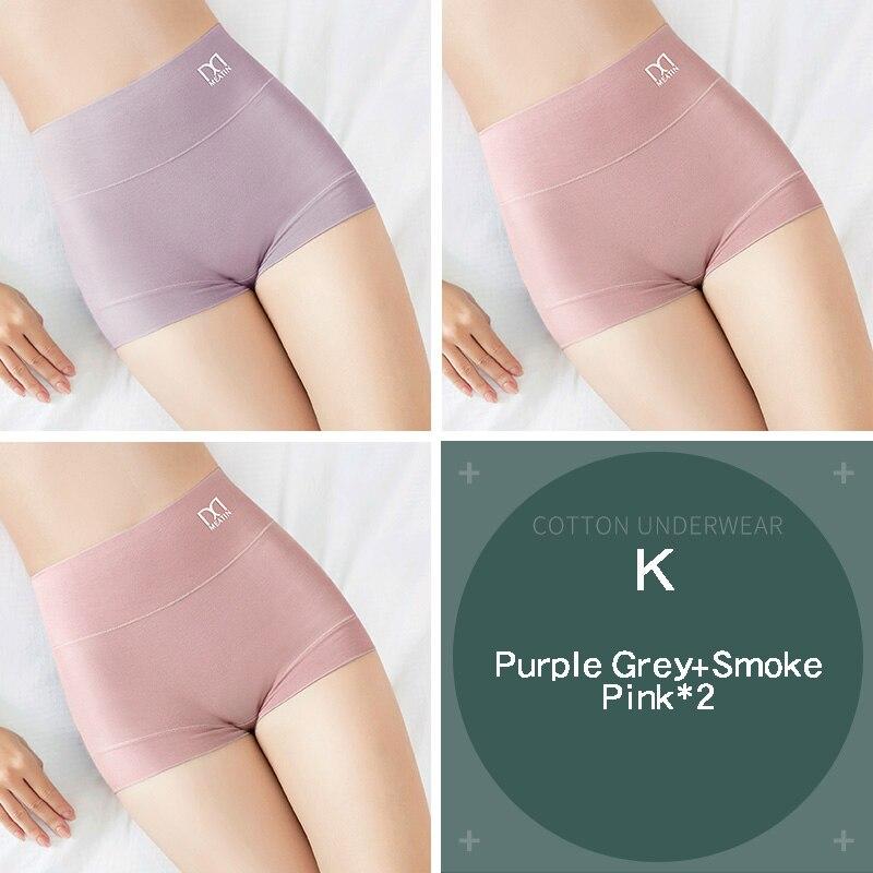 [3PCS/5PCS]/lot Women Silky Modal Panties Ladies High Waist Boyshort Breathable Soft Underwear Girls Briefs Safety Shorts Pants 7