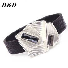 D&D Bracelets Winding Wrap Leather Bracelet Fashion Women Hand Jewelry Summer Accessories for Female in Black color