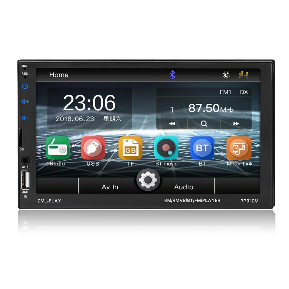 "Baru 2 DIN Mobil Radio 7 ""Bluetooth Mobil Multimedia Player 2din Sentuh Auto Radio MP5 SD/FM/MP4 /USB/AUX Audio Stereo dengan Kamera"