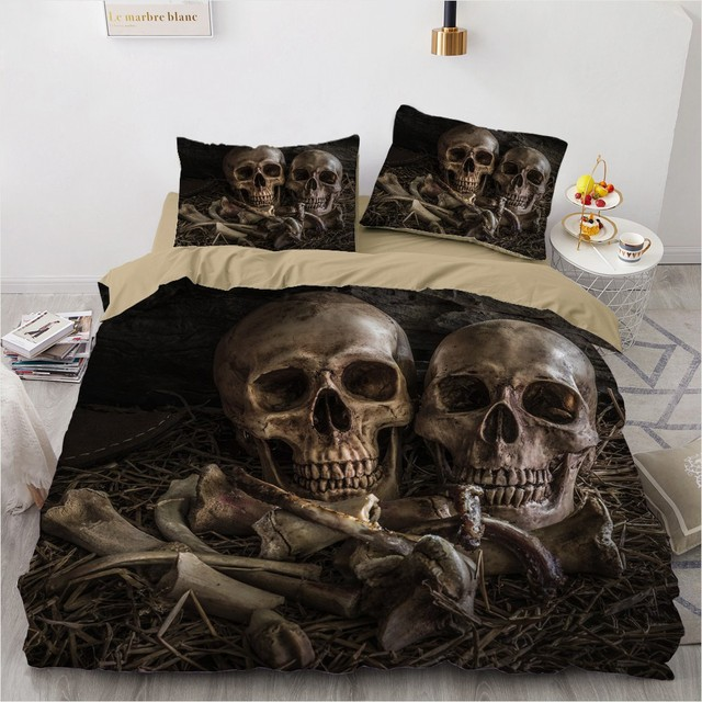 3D SKULL THEMED BEDDING SETS (14 VARIAN)